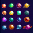 Set of isolated cosmos stars or planets - 199326558