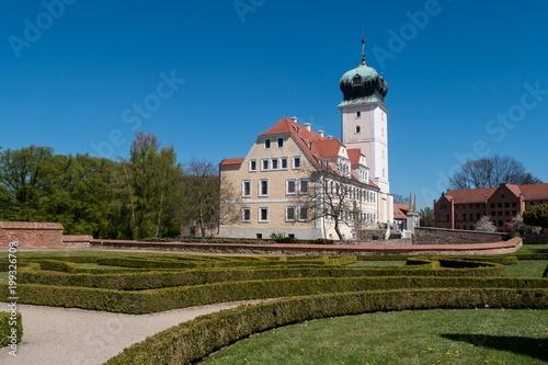 Schloss Delitzsch - Ansicht aus dem Schlossgarten Poster