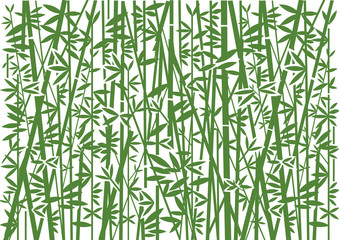 Bamboo, Decorative green background. Stylized Illustration of green bamboo decorative background.Vector available.