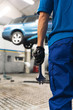 Professional Mechanic Repairing Car Engine.