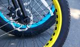 bicycle wheel close-up - 199336301