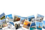 Photo collage of Greece. Santorini. Mykonos. Travel