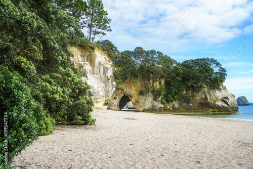Plexiglas Cathedral Cove the cave of the cathedral cove beach,coromandel,new zealand 4
