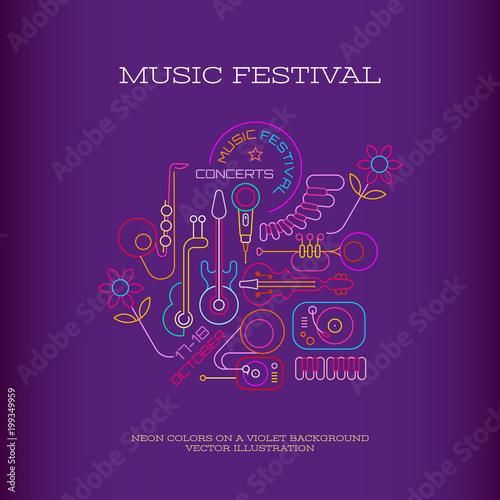 Plexiglas Abstractie Art Music Festival banner design