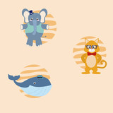 Cute animals cartoons