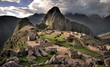 The center of Machu Picchu, the lost Inca town in Peru (HDR)