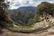 Inti Punku (Sun Gate) in Machu Picchu and view into the valley of the river Urubamba, Peru
