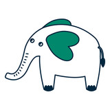 cute elephant animal icon vector illustration design