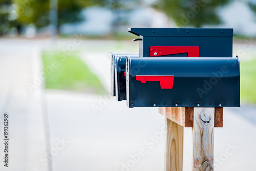 Foto Murales Mail box in the united states
