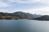 Cantabrian Mountains with artificial lake