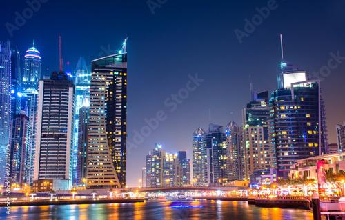 Fotobehang Dubai Marina - Dubai - Night view