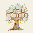 Watercolor vector tree house with frames - 199396761