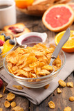 cornflakes and fruit