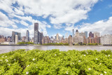 New York City skyline seen from the Roosevelt Island, USA