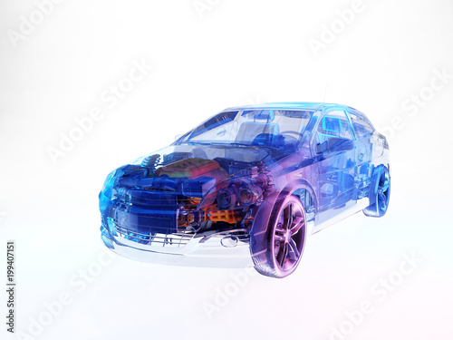 Transparent model cars. - 199407151