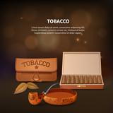 Tobacco Realistic Composition - 199408111