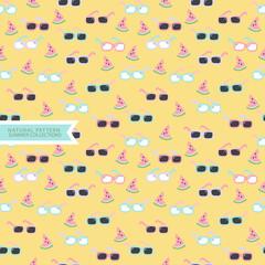 Summer Seamless Pattern,Sunglasses Background © botobox