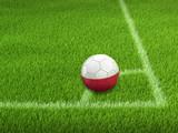 Soccer football with Polish flag