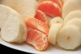 mandarynka, kawałki owoców