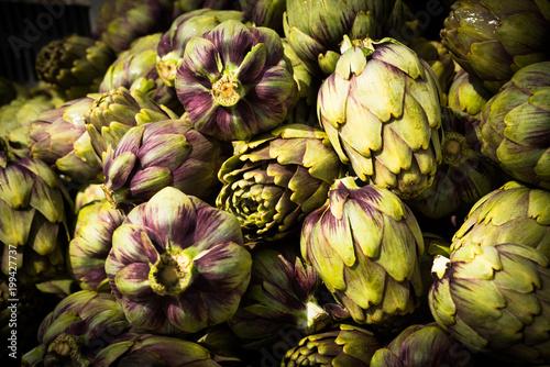 Fototapeta Carciofi Violetti freschi, Italian Slow Food