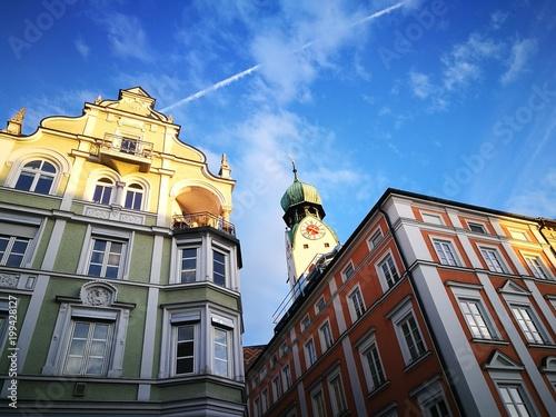 Leinwandbild Motiv Historische Altstadt Rosenheim