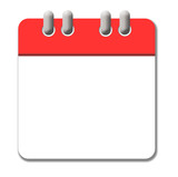 White and red calendar icon