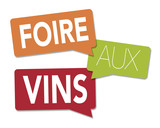 Wine fair illustration with a white background