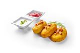 Potato dumplings - a traditional regional dish. Polish, Latvian and Lithuanian cuisine. - 199433970