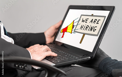 Hiring concept on a laptop