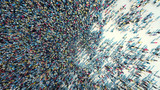 crowd of people viewed from above - 199458174