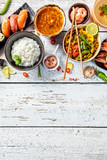Asian food variation with many kinds of meals. Top view - 199458909