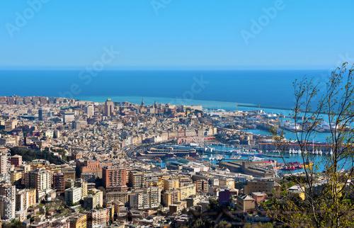 Foto op Plexiglas Liguria cityscape of Genoa, Italy