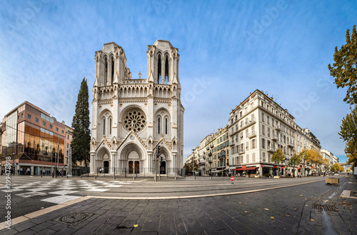 Foto op Plexiglas Nice Panoramic view of Basilica of Our Lady of the Assumption located on Avenue Jean Medecin in Nice, France