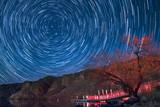 Star Trails On A Lake