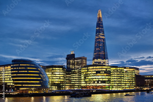 Foto op Canvas London london city night