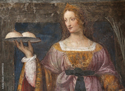 Sant'Agata; fresk autorstwa Bernardino Luini. Kościół San Maurizio, Mediolan