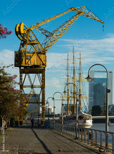 Fotobehang Buenos Aires Port Madero in Buenos Aires