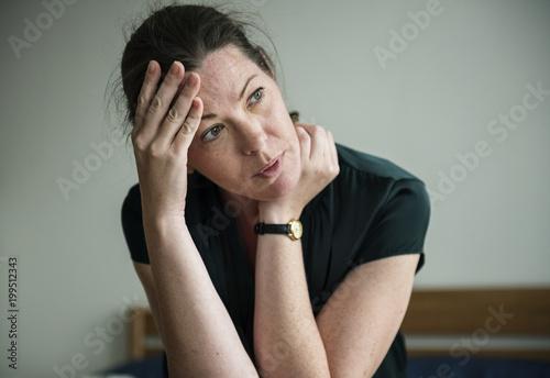 A stressful woman - 199512343