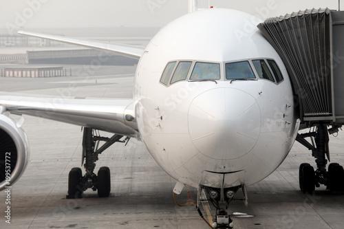 Fototapeta Parked jet airplane