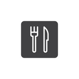 Fork and knife vector icon. filled flat sign for mobile concept and web design. simple Restaurant solid icon. Food court symbol, logo illustration. Pixel perfect vector graphics