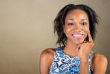 Portrait of beautiful African American woman smilin - 199544369