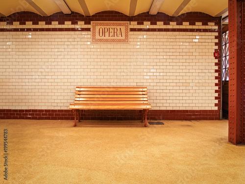 Fotobehang Boedapest Vintage style metro station -- Budapest Metro Line M1