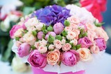The composition is made by florists from fresh flowers. - 199547170