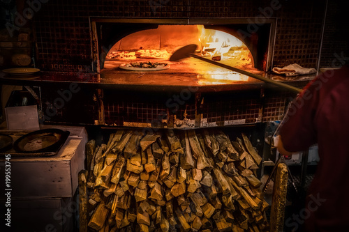 Foto op Plexiglas Pizzeria Wood Fired