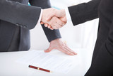 Business handshake. Business handshake and business people concept. Successful Business woman smiling friendly - 199559302