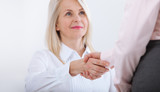 Business handshake. Business handshake and business people concept. Successful Business woman smiling friendly - 199559332