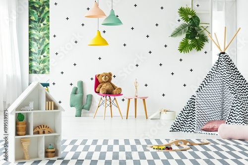 Playtent in bright room