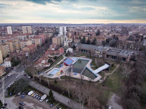 Fotobehang Parijs Mantova, piscina Dugoni