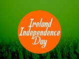 beautiful abstract, banner or poster for Ireland Independence Day
