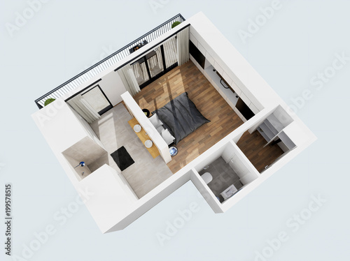 Zobacz pokój 3d hotelu 02